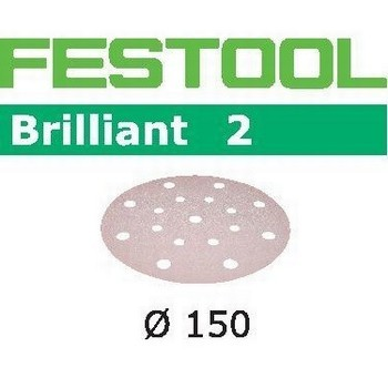 FESTOOL 496582 PACK OF 10 BRILLIANT 2 SANDING DISCS P120 GRIT 150MM