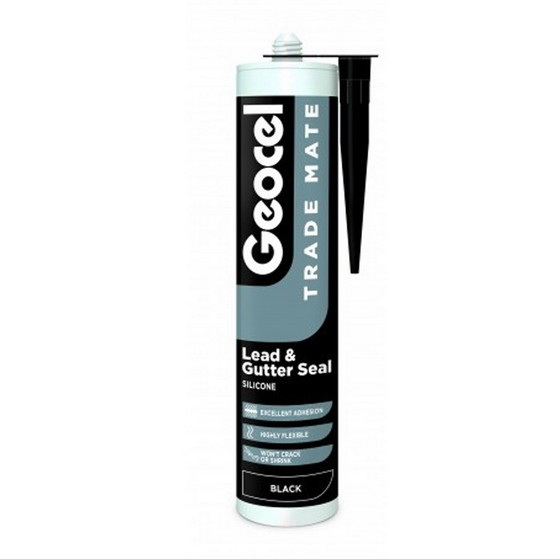 GEOCEL 2940370 TRADE MATE SILICONE LEAD SEALANT 310ML BLACK