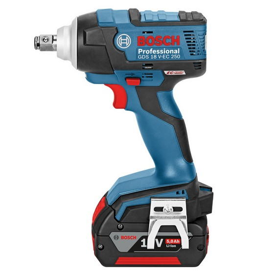 BOSCH GDS 18V-EC 250 18V BRUSHLESS HIGH TORQUE IMPACT WRENCH WITH 2X 5.0Ah LI-ION BATTERIES