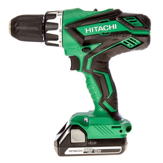 HITACHI DV18DGL/JF 18V COMBI HAMMER DRILL WITH 2X 2.5AH LI-ION BATTERIES