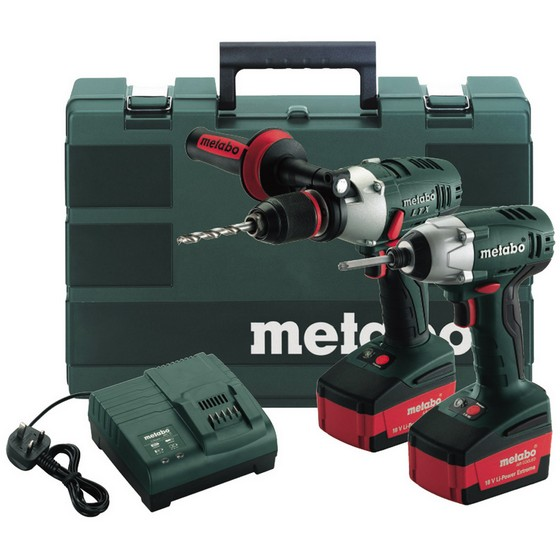 METABO LTX2 18V COMBI AND IMPACT TWIN PACK WITH 2X 4.0AH LI-ION BATTERIES