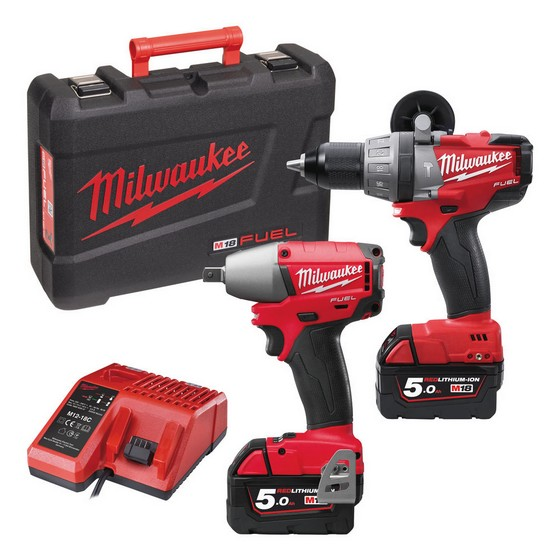 MILWAUKEE M18 PP2B-502C 18V TWIN PACK WITH 2X 5.0AH LI-ION BATTERIES