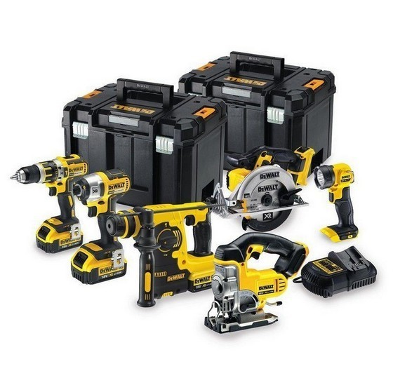 DEWALT DCK699M3T 18V XR 6 PIECE KIT WITH 3X 4.0AH LI-ION BATTERIES