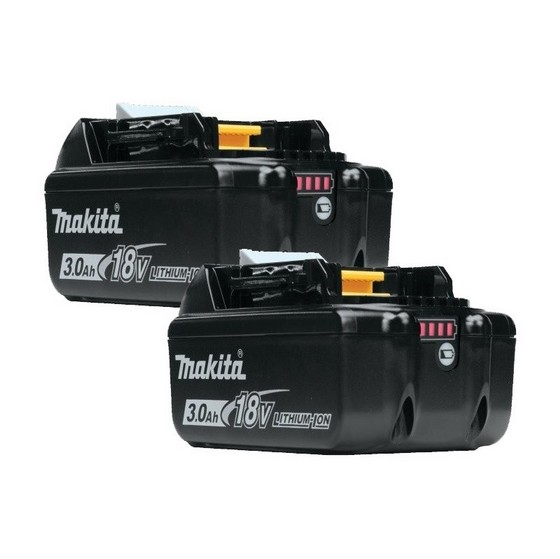 MAKITA BL1830 18V 3.0AH LITHIUM-ION BATTERY TWIN PACK