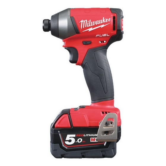 MILWAUKEE M18 FID-502X BRUSHLESS FUEL 2 IMPACT DRIVER WITH 2X 5.0AH LI-ION BATTERIES + FREE JACKET