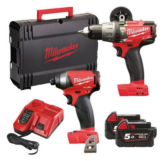 MILWAUKEE M18 FPP2A-502X BRUSHLESS FUEL 2 TWIN PACK WITH 2X 5.0AH LI-ION BATTERIES + FREE JACKET