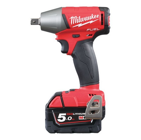 MILWAUKEE M18 FIWF12-502X BRUSHLESS FUEL 2 IMPACT WRENCH 1/2IN WITH 2X 5.0AH LI-ION BATTERIES + FREE JACKET