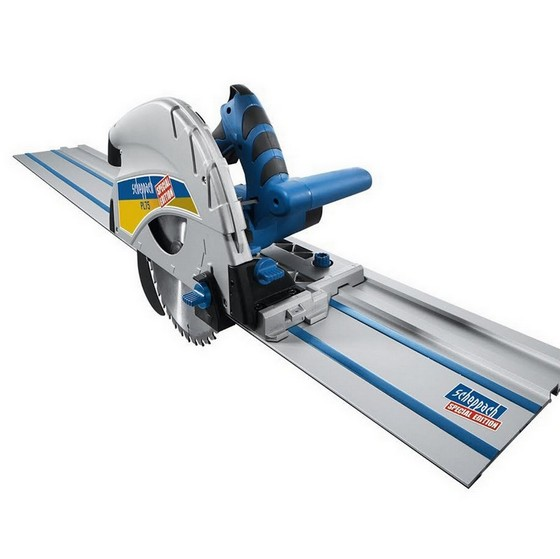SCHEPPACH PL 75 210MM PLUNGE SAW WITH FENCE AND 2X 1.4M GUIDE RAIL