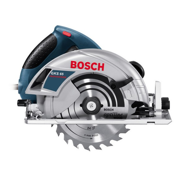 BOSCH GKS65 190mm CIRCULAR SAW 240V + 1.6m GUIDE RAIL IN L-BOXX CASE