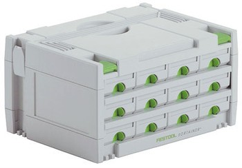 FESTOOL 491986 SORTAINER 12 DRAWER STORAGE CASE