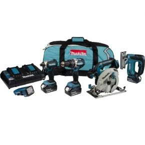 Makita 5 piece kit DLX5043PT, ideal for woodworking