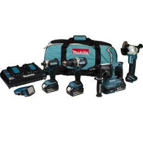 Makita 5 piece kit DLX5042PT, ideal for construction workers