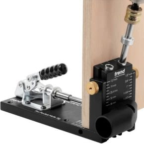 The Trend pocket hole jig, ideal for woodworkers and joiners