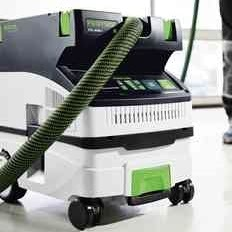 The new Festool dust extractors, featuring touch control