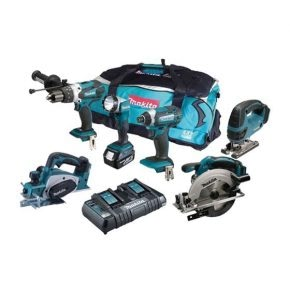 The Makita 6 piece kit for woodworkers