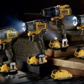 The new Dewalt 12V range, featuring XTREME Subcompact Series tools