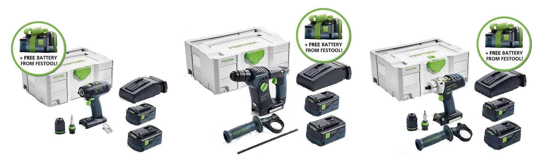 Festool battery promotion