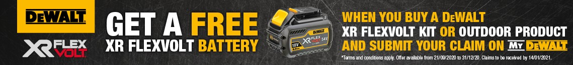 free dewalt flexvolt battery