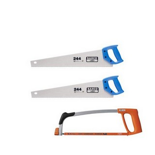 BAHCO BAH24422317 244 HARDPOINT HANDSAWS 550MM (22 INCH) WITH 317 HACKSAW 300MM (12 INCH) (PACK OF 2)
