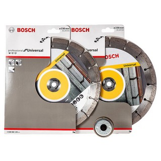 BOSCH 0615997496 TWIN PACK DIAMOND DISC PLUS SDS CLICK NUT 230MM