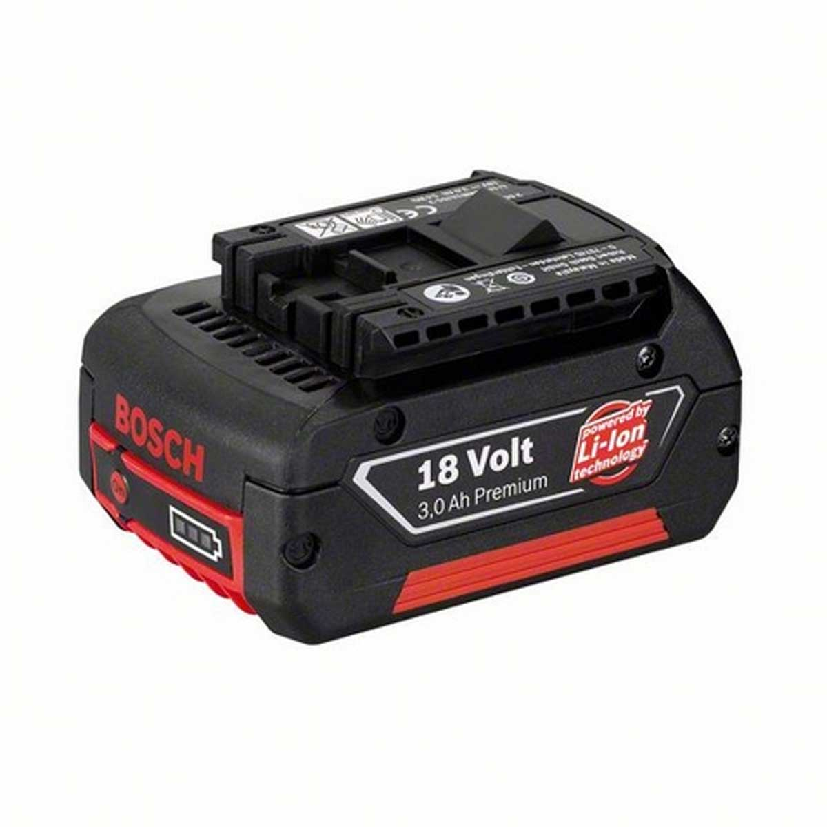 BOSCH 18V 3.0AH PREMIUM LI-ION BATTERY WITH CHARGE LEVEL INDICATION