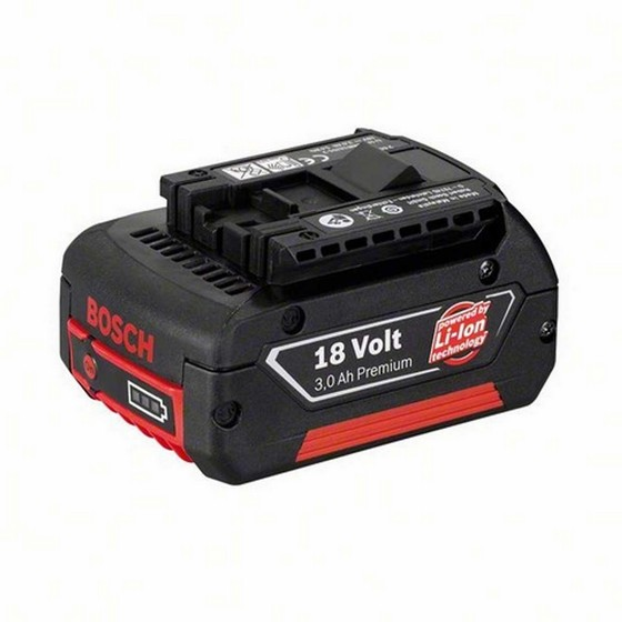 BOSCH 2607336236 3.0AH 18V PREMIUM LI-ION BATTERY WITH CHARGE LEVEL INDICATION
