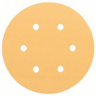 BOSCH 2608605089 PACK OF 5 RANDOM ORBITAL WOOD SANDING DISCS 120 GRIT 150MM