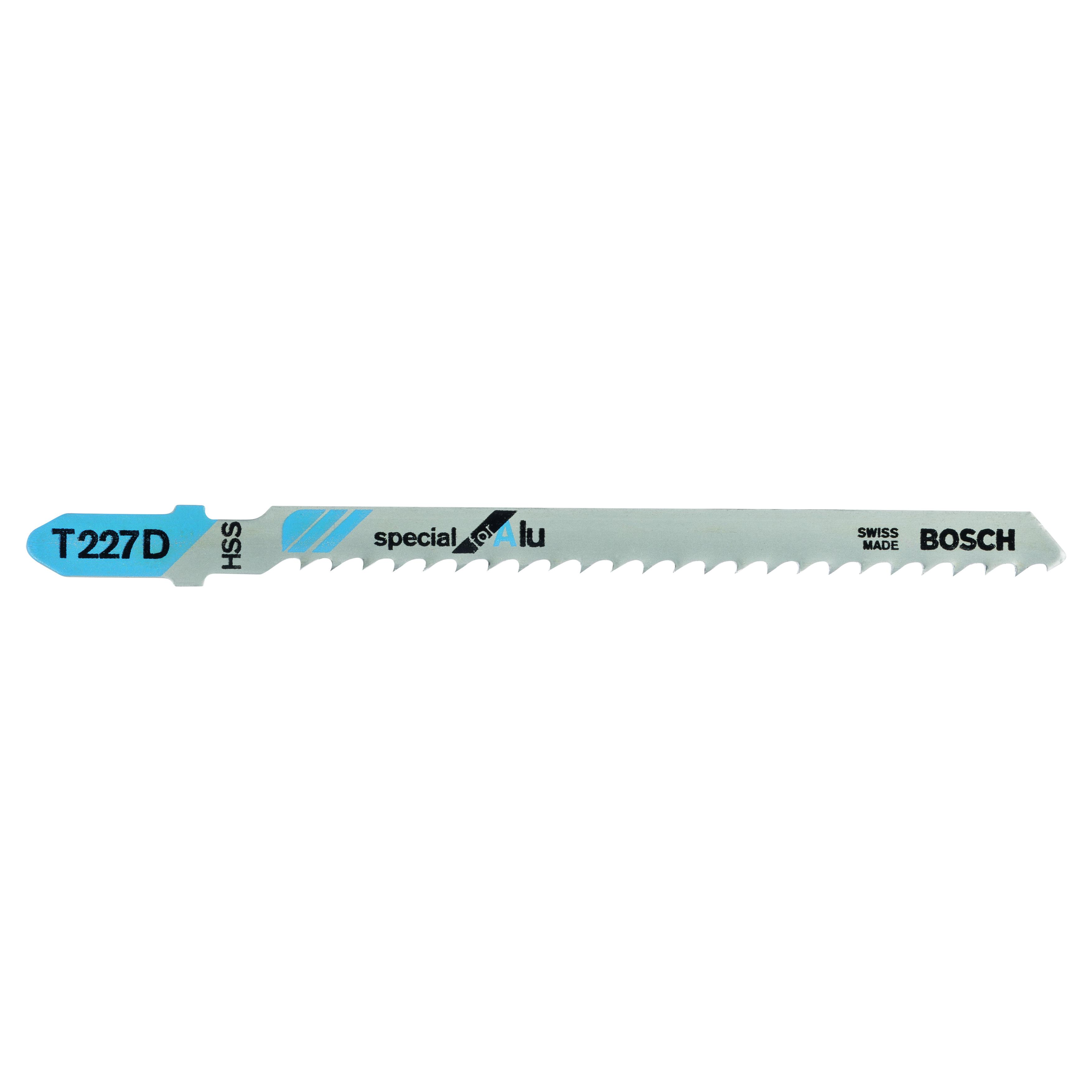 BOSCH 2608631030 T227D JIGSAW BLADES FOR ALUMINIUM (PACK OF 5)