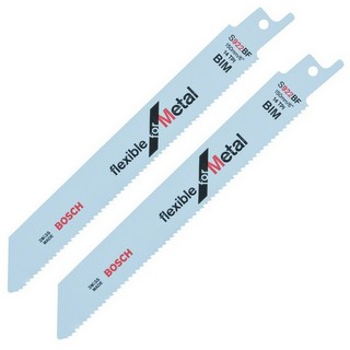 BOSCH 2608656037 S922BF SABRE SAW BLADES - FLEXIBLE FOR METAL (PACK OF 2)