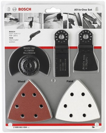 BOSCH 2608661694 ALL-IN-ONE MULTI CUTTER SET