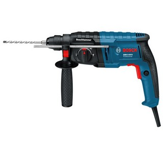 BOSCH GBH 2-20 D SDS+ HAMMER DRILL WITH 3X SDS DRILL BITS & POINTED CHISEL IN CARRY CASE 110V