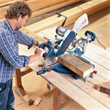 BOSCH GCM12SD 305MM SLIDING DOUBLE BEVEL MITRE SAW 240V & GTA2600 LEGSTAND