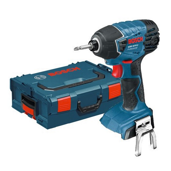 BOSCH GDR18V-LIN 18V IMPACT DRIVER (BODY ONLY) SUPPLIED IN L-BOXX