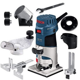 BOSCH GKF600 PALM ROUTER 240V WITH ACCESSORIES