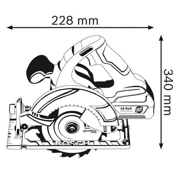Bosch Gks18vli-n 18v Circular Saw Body Only In L-boxx