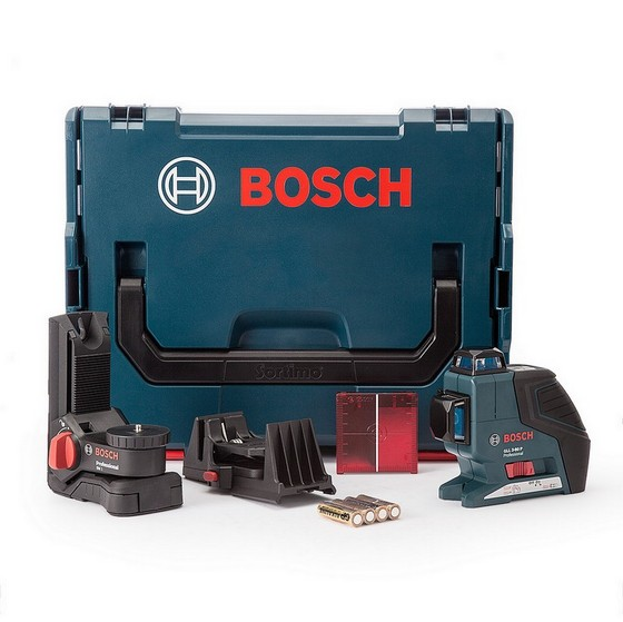 bosch gll3 80p multi line laser kit supplied in l boxx. Black Bedroom Furniture Sets. Home Design Ideas