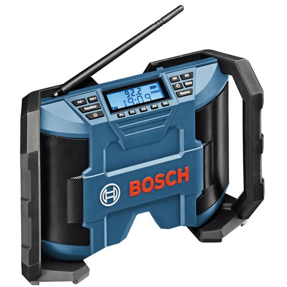 bosch 10 8 volt jobsite radio with 2 x aaa batteries and aux in cable and dc ac adaptor. Black Bedroom Furniture Sets. Home Design Ideas