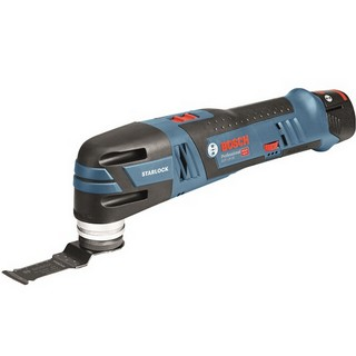BOSCH GOP12V-28 12V BRUSHLESS STARLOCK MULTI TOOL WITH 2x 2.5AH LI-ION BATTERIES & 12 ACCESSORIES SUPPLIED IN L-BOXX