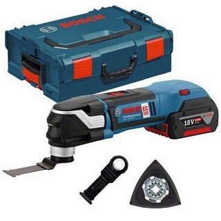 BOSCH GOP18V-28 STARLOCK PLUS MULTI TOOL SUPPLIED WITH 2X 4.0AH LI-ION BATTERIES AND ACCESSORIES