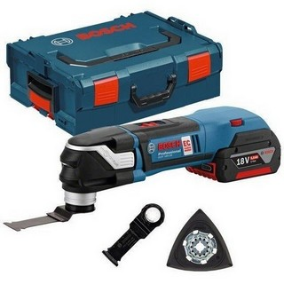 BOSCH GOP18V-28 STARLOCK PLUS MULTI TOOL SUPPLIED WITH 2X 5.0AH LI-ION BATTERIES AND ACCESSORIES