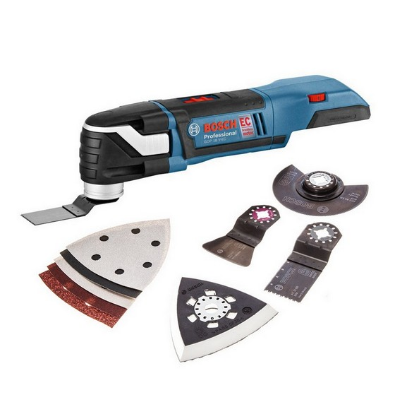 bosch gop18vec n 18v brushless multi tool with accessories body only. Black Bedroom Furniture Sets. Home Design Ideas