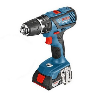 BOSCH GSB 18-2-LI PLUS 18V COMBI DRILL LIGHTSERIES + WITH 2 X 2.0AH LI-ION BATTERIES, & 63 PC ACCESSORY SET IN L-BOXX