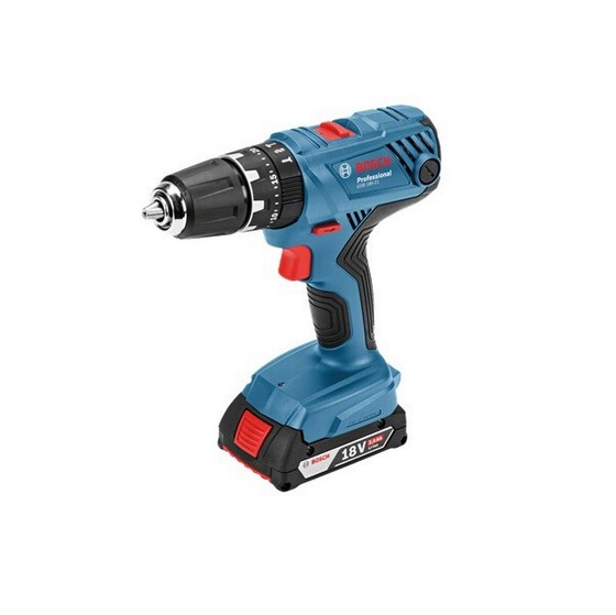 BOSCH GSB18V-21 18V COMBI HAMMER DRILL WITH 2X 4.0AH LI-ION BATTERIES (SUPPLIED IN L-BOXX)