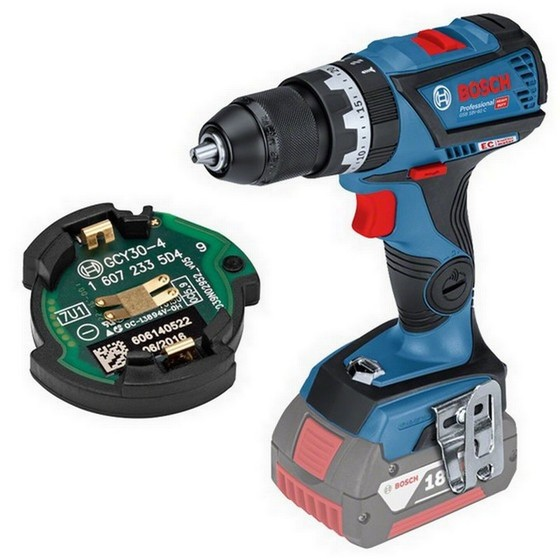 BOSCH GSB18V-60C 18V COMBI HAMMER DRILL + GCY 30-4 (CONNECTIVITY READY) 2X 5.0AH LI-ION BATTERIES