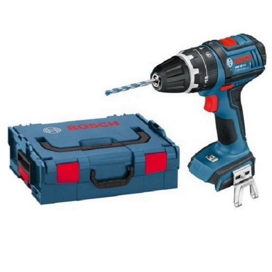 BOSCH GSB18V-LIN 18V COMBI HAMMER DRILL (BODY ONLY) & CHARGER SUPPLIED IN L-BOXX