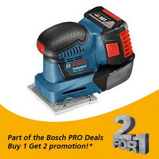 BOSCH GSS18V-10 18V ORBITAL SANDER WITH 2X 5.0AH LI-ION BATTERIES