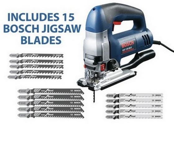 Bosch gst135bce jigsaw 720w 240v includes 15 bosch jigsaw blades greentooth Gallery