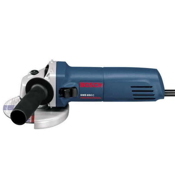 BOSCH GWS850 115MM ANGLE GRINDER 240V SUPPLIED WITH DIAMOND DISC AND CARRY CASE