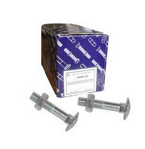 Coach Bolt With Nut M6X50mm Bright Zinc Plated box of 200