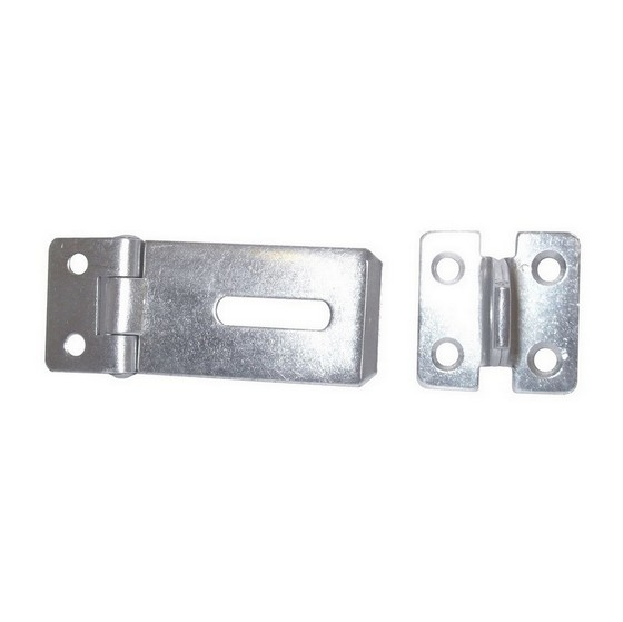 DALE DX40551 SAFETY HASP AND STAPLE 100MM BLACK JAPANNED